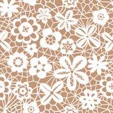 Картина шнурка безшовная с цветками Стоковая Фотография