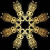Картина шнурка золота на черной предпосылке Стоковое Фото
