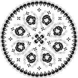 картина шнурка орнаментальная круглая Стоковое Изображение