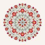 картина шнурка орнаментальная круглая Стоковые Изображения