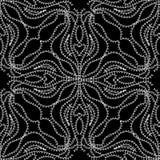 Картина шнурка флористическая безшовная Черно-белое абстрактное ornamenta Стоковое Изображение RF