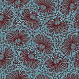 Картина шнурка цветка Брайна безшовная Стоковые Изображения RF