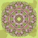 Картина шнурка Doily вектора круглая иллюстрация круга предпосылки применений много полезный вектор иллюстрация вектора