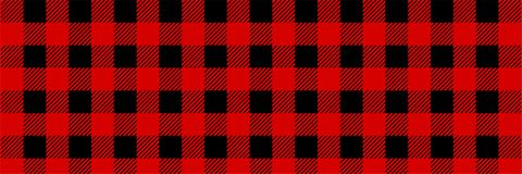 Картина шотландки буйвола Lumberjack безшовная Красный и черный Lumberjack бесплатная иллюстрация