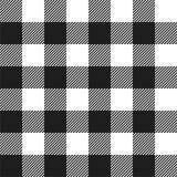 Картина шотландки проверки белого и черного буйвола безшовная иллюстрация вектора