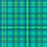Картина шотландской клетки безшовная, зеленая Зелен-голубая безшовная картина иллюстрация штока