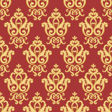 картина штофа безшовная Золото и красная текстура иллюстрация вектора