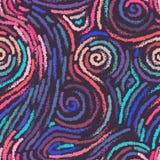 Картина штрихового пунктира Doodle Обои моды ультрамодные Стоковые Изображения RF