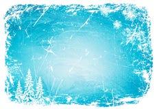 Картина льда grunge предпосылки также вектор иллюстрации притяжки corel иллюстрация вектора