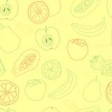 Картина экзотического плодоовощ безшовная Стоковая Фотография