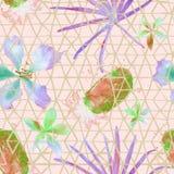 Картина экзотической геометрии безшовная Стоковые Фотографии RF