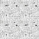 картина элемента doodle доктора безшовная Стоковые Фотографии RF