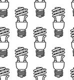 Картина энергосберегающих электрических лампочек безшовная вектор Стоковая Фотография RF