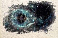 Картина эскиза акварели межзвёздного облака винтовой линии иллюстрация вектора