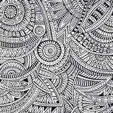 Картина этнического происхождения абстрактного вектора племенная Стоковая Фотография
