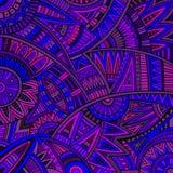 Картина этнического происхождения абстрактного вектора племенная иллюстрация вектора