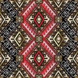 Картина этнического стиля греческая безшовная иллюстрация штока