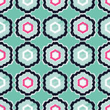 Картина этнического boho безшовная Взамопонимание ткани Стоковое Изображение RF