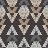 Картина этнического boho безшовная картина соплеменная цветастая ткань вышивки Текстура Scribble Ретро мотив иллюстрация вектора