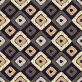 Картина этнического boho безшовная Текстура Scribble Ретро мотив бесплатная иллюстрация