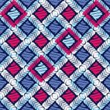 Картина этнического boho безшовная цветастая ткань вышивки орнамент традиционный картина соплеменная Фольклорный мотив иллюстрация штока