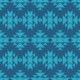 Картина этнического boho голубая безшовная цветастая ткань вышивки картина соплеменная Фольклорный мотив бесплатная иллюстрация