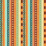 Картина этничности безшовная Стиль Boho этнические обои Племенная печать искусства Старый конспект граничит текстуру предпосылки Стоковые Изображения