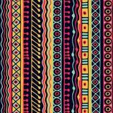 Картина этничности безшовная Стиль Boho этнические обои Племенная печать искусства Старый конспект граничит текстуру предпосылки Стоковые Изображения RF