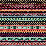 Картина этничности безшовная Стиль Boho этнические обои Племенная печать искусства Старый конспект граничит текстуру предпосылки Стоковое Изображение RF