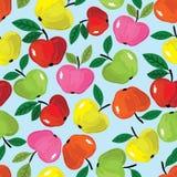 Картина Яблока безшовная иллюстрация штока