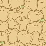 Картина яблок безшовная Стоковые Изображения RF