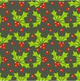 Картина ягоды падуба иллюстрация вектора