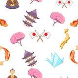 Картина Японии, стиль шаржа Стоковые Фото