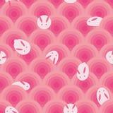 Картина японского mochi круга кролика безшовная бесплатная иллюстрация
