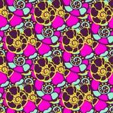 Картина яркого вектора раковины красочного безшовная морская безшовная текстура Ткань, оборачивая, обои Стоковая Фотография RF