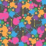 Картина яркого красочного вектора splatters краски безшовная бесплатная иллюстрация
