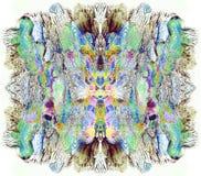 Картина яркого цвета абстрактная в Mono типе стиле иллюстрация штока