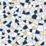 Картина яркой абстрактной мозаики безшовная Предпосылка вектора Бесконечная текстура Части керамической плитки иллюстрация штока