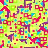 Картина ярко геометрических форм Стоковые Изображения