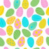 Картина яя цвета на белой предпосылке для знамени пасхи иллюстрация вектора