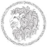 Картина для книжка-раскраски львев бесплатная иллюстрация
