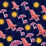 Картина для пляжа лета Стоковое Изображение RF