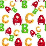 Картина ABC шаржа безшовная Стоковая Фотография