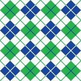 Картина Argyle в голубом, зеленом и белом стоковое изображение