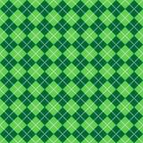 картина argyle зеленая Стоковые Фото
