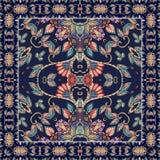 Картина Bandana квадратная Фасонируйте дизайн для neckwear, headcover, шали или шарфа иллюстрация вектора