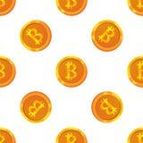 Картина Bitcoin безшовная Стоковое фото RF