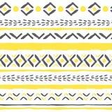 Картина boho вектора нарисованная рукой племенная Стоковые Фото
