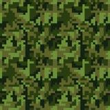 Картина camo пиксела безшовная Зеленое камуфлирование леса бесплатная иллюстрация