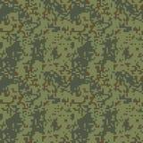 Картина camo пиксела безшовная Зеленое камуфлирование леса иллюстрация штока